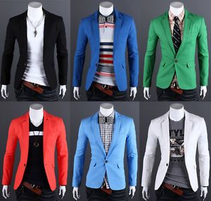 Men's Design Premium Slim Fit Casual Dress Spring Cotton Blazer Suit Jackets