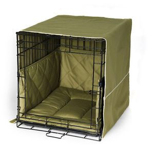 "Pet Dreams Olive 30"" Dog Pet Puppy Wire Crate Cage Training Cover Bed Bumper Pad"