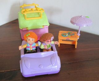 Fisher Price Little People Camping Pop Up camper Trailer Car Accessories