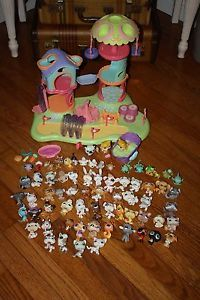 Littlest Pet Shop Lot Park Pets Dogs Catsbirds Ladybug Frogs Lizards Seahorse