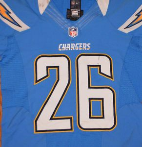 2012 San Diego Chargers Game Worn Used Nike Football Jersey