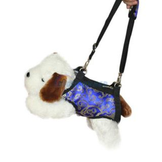 Blue Sling Pet Dog Satin Travel Carrier Bag 4 Sizes New