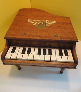 Vintage Wood Japan Boston Baby Grand Piano Childrens Toy