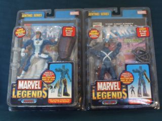 Marvel Legends Sentinel Series Cyclops and Angel Variants