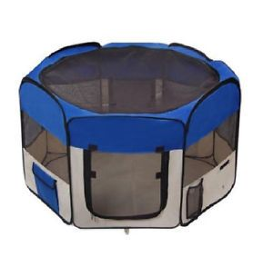 Portable Pet Puppy Dog Playpen Exercise Kennel Indoor Outdoor Play Pen Fence