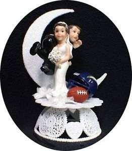 San Diego Chargers NFL Football Wedding Cake Topper