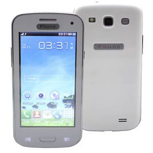 "4 0"" Dual Sim Resistive Touch Screen Unlocked Quad Bands Cell Phone Mobile Phone"