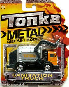 Sanitationtruck Tonka 2012 Metal Diecast Bodies Realistic Tires 1 64 Scale