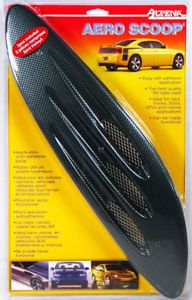 2 Carbon Fiber Aero Hood Air Scoops Alpena Car Detail Add On