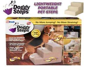 Doggy Steps Dog Cat Pet Stairs Seen on TV Doggie 3 Steps