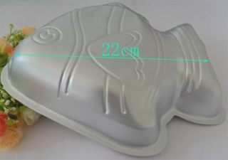 1P Aluminum Fish Shape Cake Pan Baking Mold Cake Mold Cake Decorating Tanks New