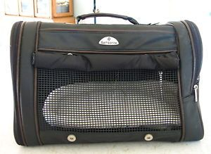Samsonite Airline Approved Dog Cat Brown Black Pet Carrier Size Small