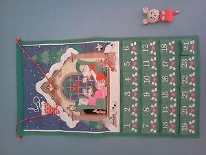 1987 Avon Christmas Countdown Advent Calendar with Mouse