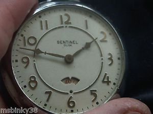 Ingraham Sentinel Click Pocket Watch All Base Metal Case