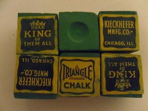 30's 40's Triangle Chalk by Kieckhefer MNFG Co Chicago Billiards Pool Table Cue