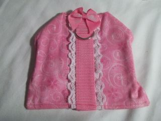 Pet Harness Pink Small Dog Puppy Clothes Handmade Dog Supplies Length 5 1 2""