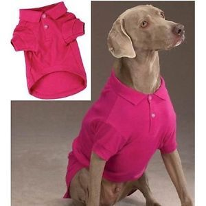 Pink Preppy Polo Pet Dog Shirt Clothes Small Medium Large or XL