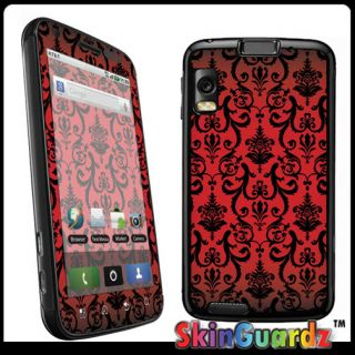 Red VI Decal Skin to Cover Motorola Atrix 4G MB860 Case
