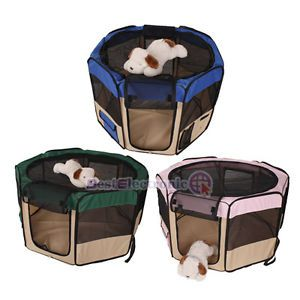 Dog Pet Puppy Kennel Exercise Pen Playpen Soft Crate