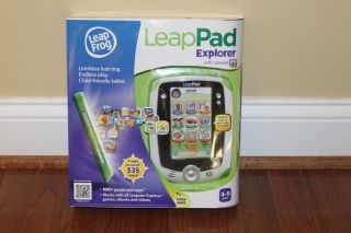 New★leap Frog LeapPad Explorer Learning Tablet Camera Green 4 Apps Fast SHIP 2G