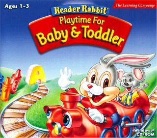 Reader Rabbit Play Time Baby Toddler PC Mac New