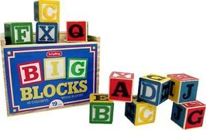 Large Wooden ABC Blocks Children's Toy Photography Prop