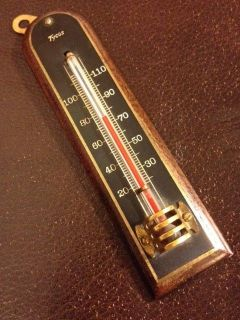 Vintage Tycos Thermometer RARE Stunning Home Art Deco Top Shelf Engineering Cool