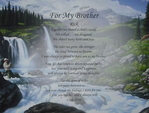 Personalized Poem for Brother Birthday Christmas Gift