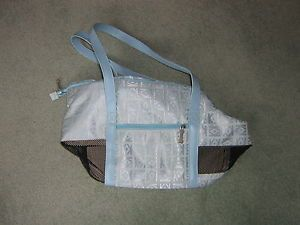 Light Blue Small Dog Carrier Purse Polyester Nylon