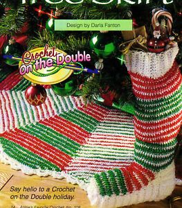 Festive Christmas Stocking Tree Skirt Crochet Pattern