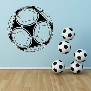 Football Large Vinyl Wall Art Sticker Classroom Boys Room Gym Decal Soccer Ball