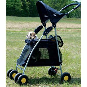 New Walk 'N Roll Pet Stroller for Dogs Cats Small Pets Up to 20 lbs Blue L K