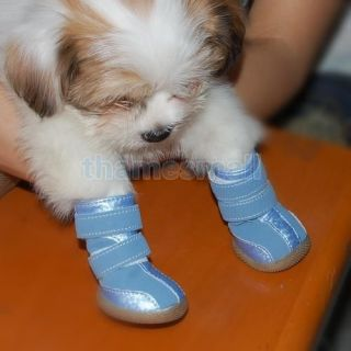Cozy Pet Dog Puppy Boots Shoes Clothes Apparel Blue 3