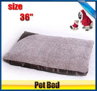 "36""Portable Warm Soft Cat Dog Pet Bed with Zipper Cover Crate Cage Mat"