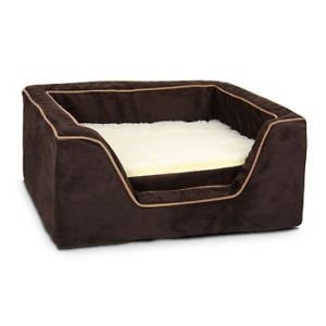 Snoozer Luxury Memory Foam Square Pet Dog Cat Sofa Style Bed New