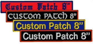 1 Custom Embroidered Bar Name Patch Motorcycle Biker Tag Badge Plate for Vest 8""