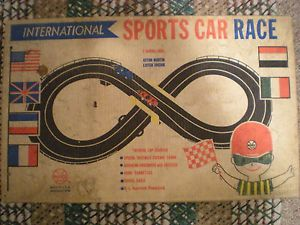 RARE Vintage Marx Toys International Sports Car Toy Race Set NY Unique Toys