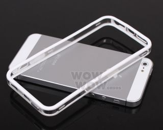 Clear White Bumper Frame TPU Silicone Case Protect for iPhone 5 5g 5S