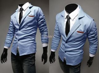 2014 New Mens Casual Dress Slim Fit Stylish Suit Blazer Jackets Coats 3 Colors
