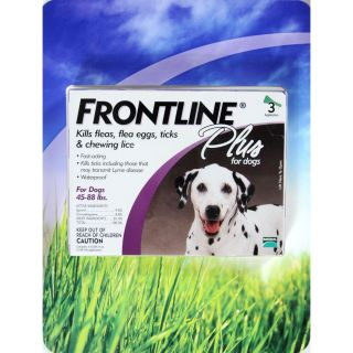 Frontline Plus Flea Tick and Lice Control for Dogs 45 88 Lbs 705105831817