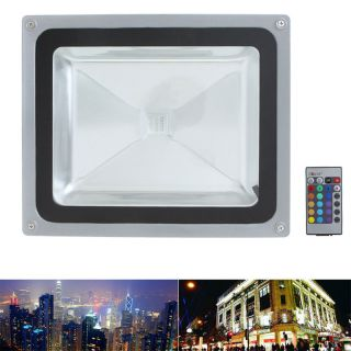 RGB 50W LED Flood Light Lamp Color Change with Remote Control IP65 US Shipping