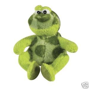 Medium Zanies Croaker Frog Dog Toy Ribbit When Squeezed