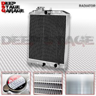 Aluminum Racing Dual Core 2 Row Cooling Radiator Honda Civic Del Sol Integra