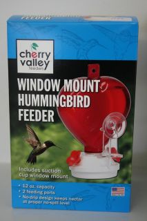 Birdfeeder Heart Window Mount Hummingbird Bird Feeder