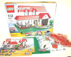 Complete Lego Creator House 4956 w Box Instructions Complete 3in1 Set RARE Kit