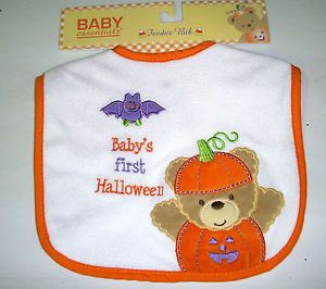 Baby's First Halloween Bat Bear Baby Bib Costume