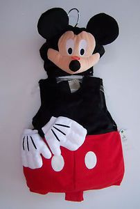 Plush Mickey Mouse Baby Toddler Costume with Squeaker Nose
