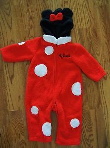 Baby Girl Disney Minnie Mouse Halloween Costume Dress Up Fleece 18 24mos EUC