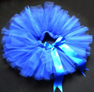 Royal Blue Party Costume Ballet Kids Dancing Girl Toddler Child Baby Tutu Skirt