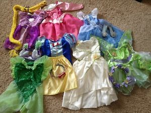 Large Lot of Girls Disney Princess Dress Up Costumes  2 3 4 Toddler